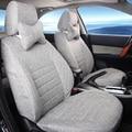 Full Set Auto Seat Covers Set para Toyota Fortuner 2015 Accesorios para Asientos de Coche Protector de Lino Cubierta Del Coche Airbag Compatible