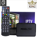 Máquina Linux Mag250 IPTV Caja con REY Europa Francés español IPTV Árabe Alemania REINO UNIDO Italia Francés Escandinavo Turky Tv de Pago y VOD