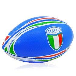 Размеры 3 синий мячи для регби подходит для детей Спорт на открытом воздухе Американский футбол ПВХ надувные обучение Американский регби мя...