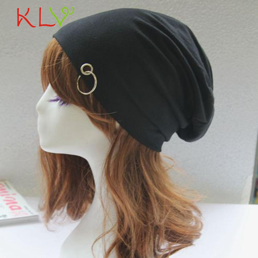 Hot 2017 Skullies & Beanies Fashion Women Men Solid Hoop Hip-Hop Beanie Hat Baggy Unisex Soft Cap Skull  Y8073 skullies