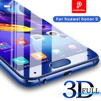 Phenvel 3D Screen Protector For Huawei Honor 9 Glass Protect Film Full Cover Nano Tempered Glass
