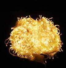 20 M 200 Led 110 V 220 V luz led de cadena colorido impermeable de iluminación led de vacaciones de Navidad/de La Boda/Decoración del partido Luces