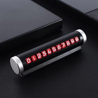 Car Temporary Parking Card Rotate Phone Number Plate Aluminum Stickers Universal Stop Card Car styling Auto Accessories 10pcs