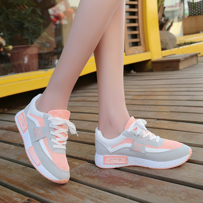 Sport shoes All Match Net Surface Students Running Shoes Harajuku Sports Women Shoes Breathable Soft Bottom Shoes