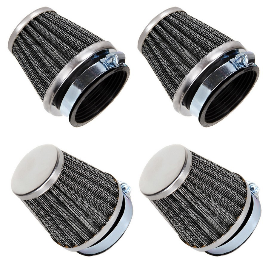 4PCS Universal Motorcycle Motorbike Replacement Clamp-on Air Filter Cleaner 39mm 42mm 48mm 50mm 52mm 54mm 60mm