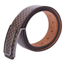 2019 Luxury Checkered Belts For Men High Quality Pin Buckle