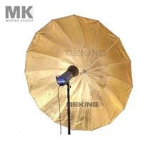 Selens Photo Studio Lighting Umbrella Fibre Frame 177.8cm 70″ Black Gold for fotografia photography