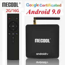 Z systemem Android 9.0 Google certyfikat TV Box MECOOL KM8 ATV 2GB 16 GB, z systemem Android 9 Smart TV box BT4.0 4K 2.4G WiFi odtwarzacz multimedialny(China)