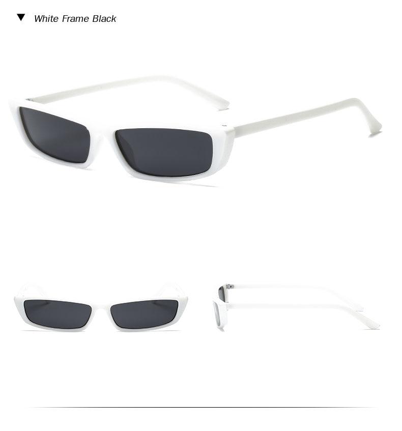 HTB1fwL1b7fb uJkSne1q6zE4XXaa - Vintage Rectangle Sunglasses Women Brand Designer Small Frame Sun Glasses Retro Black Eyewear