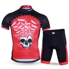 Men's Bat King Cycling Jersey Sets Breathable Short Sleeve Cycling Clothing Bike/Bicycle Wear Anti-Sweat Cycling Sets Sportswear