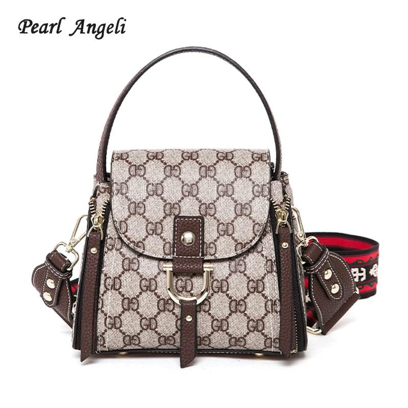 Pearl Angeli Bags for Women 2018 Women Shoulder Bag Geometric Pattern Single Strap Crossbody Bag Lady Handbags Bolsa Feminina
