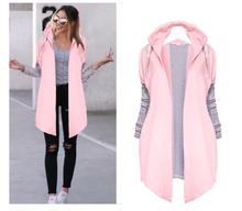 2018 Larger Size Women Irregular Hem Tie Collar Sweatshirt Casual Knitted Patchwork Female Zip-up Coat Fashion Outwear Plus size