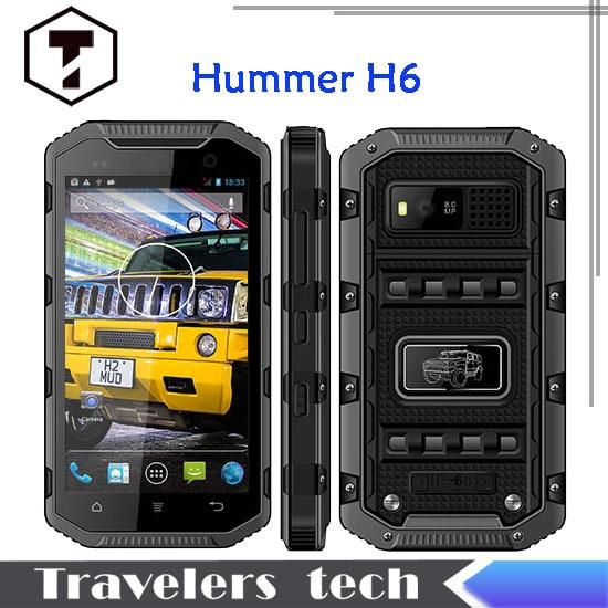 Original hummer H6 IP68 font b smartphone b font rugged Waterproof phone Android Walkie talkie MTK6582