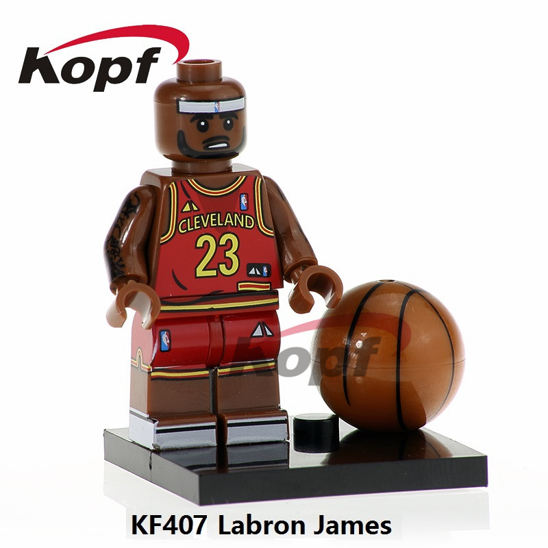 Building Blocks Single Sale Labron James Kobe Bryant NBA Professional Basketball Player Toys Super Heroes Children Gift KF407 super heroes single sale the villain of yellow lantern skeletor heman he man he man building blocks toys for children gift kf921