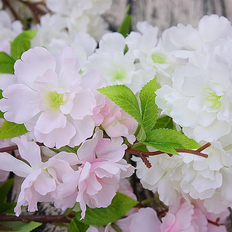 cm sucursales arreglo floral artificial flor de cerezo flores decoracin del hogar decoracin de