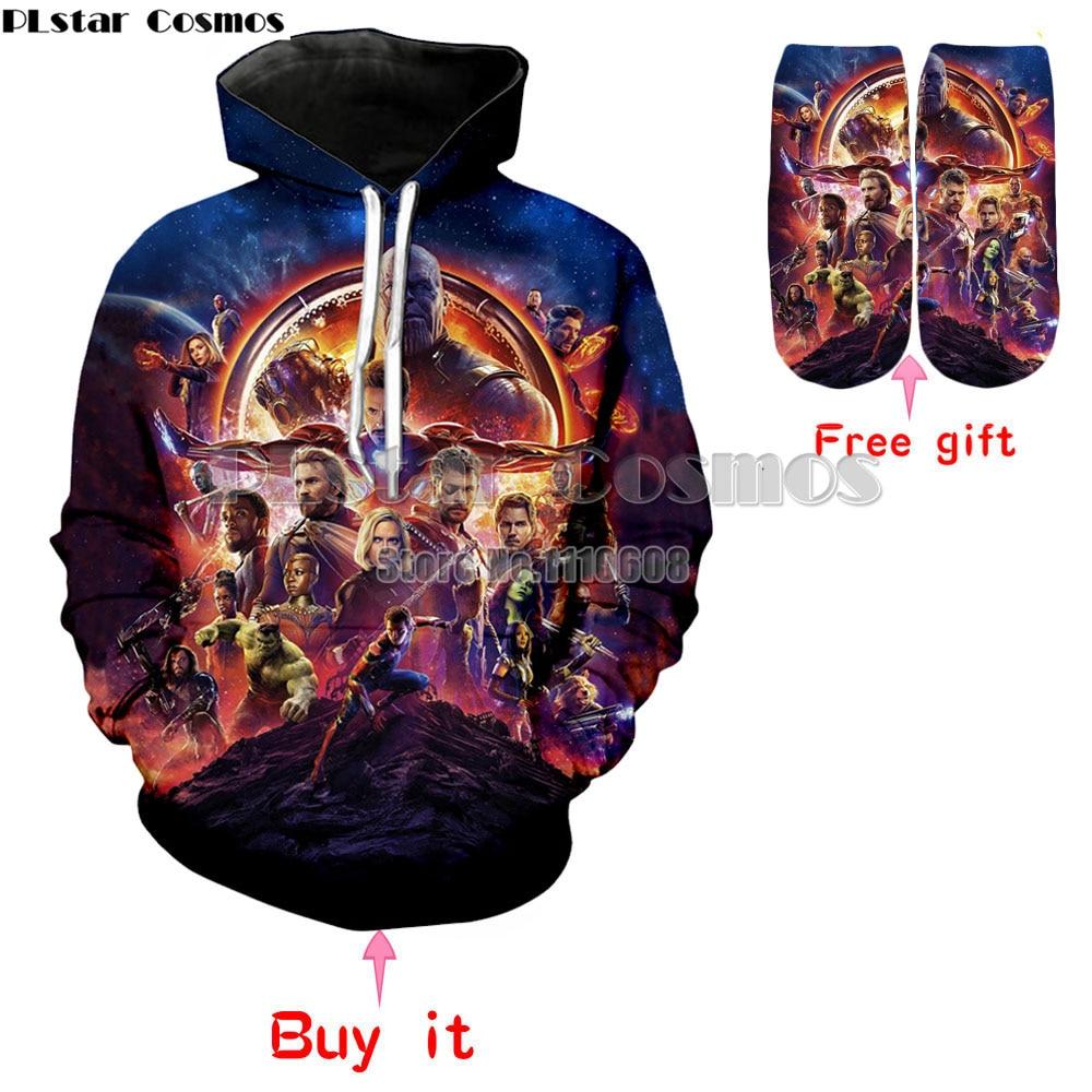PLstar Dell'universo Marvel Movie Avengers: Infinity Guerra Nuovi hoodies di Modo Degli Uomini delle donne pullover 3d Print felpa Con Cappuccio