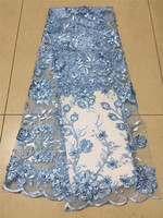 6 color fashion french net lace fabric with beads nice flowers unique african tulle lace fabric for party dress JRB 71606