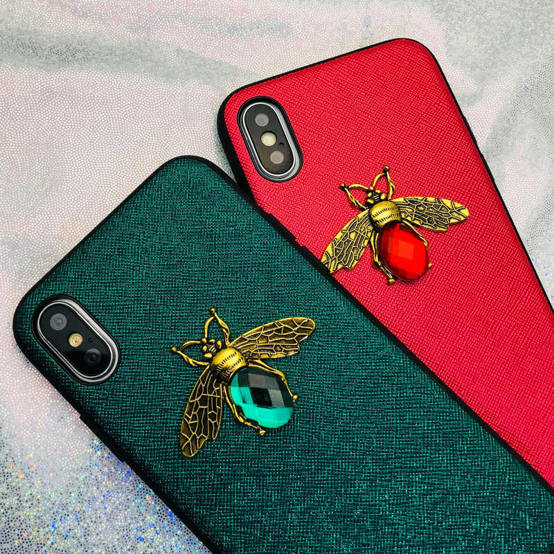 Luxury 3D Metal Bee Case For Huawei Mate 20 Lite P30 P20 Pro Y9 Y7 2018 P Smart Nova 3 4 Honor 8X V20 10 lite 7A 7C Pro P10 Plus