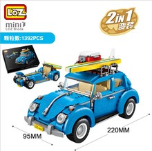 LOZ мини блоки техника город автомобилей мини модель гоночный автомобиль 2 в 1 фигурка сборки игрушки для детей с Коллекция значение 1114