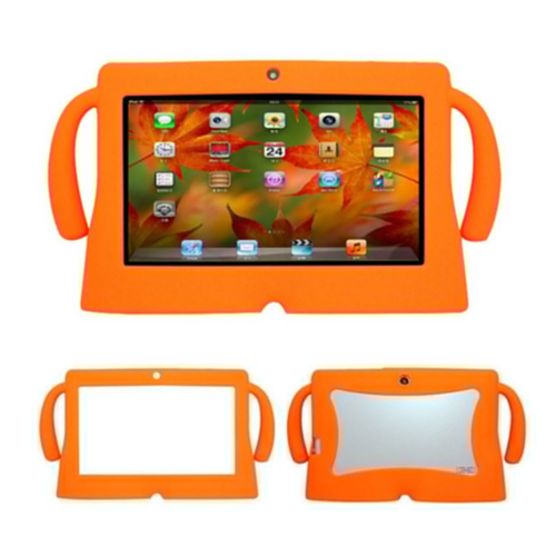 7 Inch Soft Silicone Gel Cover Case For Q88 Android Kids Children Tablet PC A13 Orange