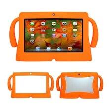 7 Pulgadas Caso de la Cubierta del Gel de Silicona Suave Para Niños Niños Tablet PC A13 Q88 Android Naranja