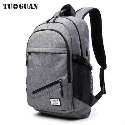 0076 TUGUAN 2017 Men leisure travel package Korean version of the business fashion trend of college students computer bags 2017 winter fashion leisure quality waterprof pu men backpack college windbag trend korean version of the tide travellaptop bag