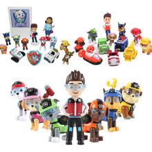 Paw Patrol Dog Puppy Patrol Car Patrulla Canina Action Figures vinyl doll Toy Kids Children Toys Gifts new kids toys canine patrol dog dolls model anime doll action figures car patrol puppy toy children gifts sets free shipping