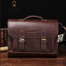 The New Retro male bag Korean Shoulder Messenger Bag business Briefcase satchel