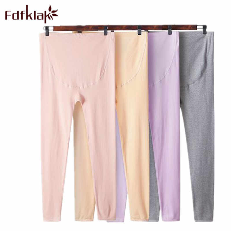 Fdfklak 2018 Autumn Winter New Cotton Maternity Leggings Pregnancy Pants Maternity Clothes Pants Long Leggings Maternity F289