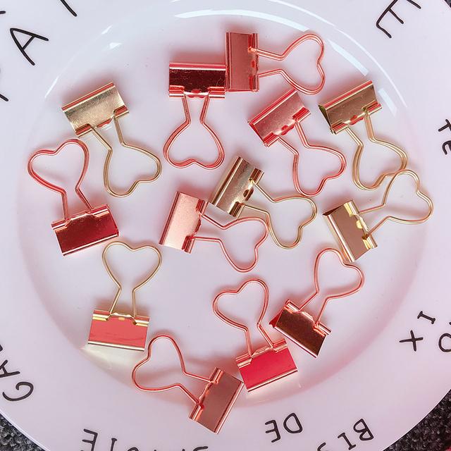 Heart Shaped Paper Binder Clips  School Supply