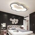 Ультратонкие современные светодиодные потолочные лампы в форме облака для гостиной  спальни  детской комнаты  белые/серые потолочные свети...