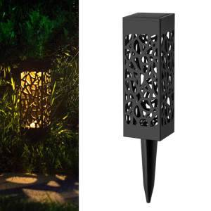 Yard Lamp Lantern Stake-Light Decorative Lawn Solar-Powered Garden Outdoor LED for Patio