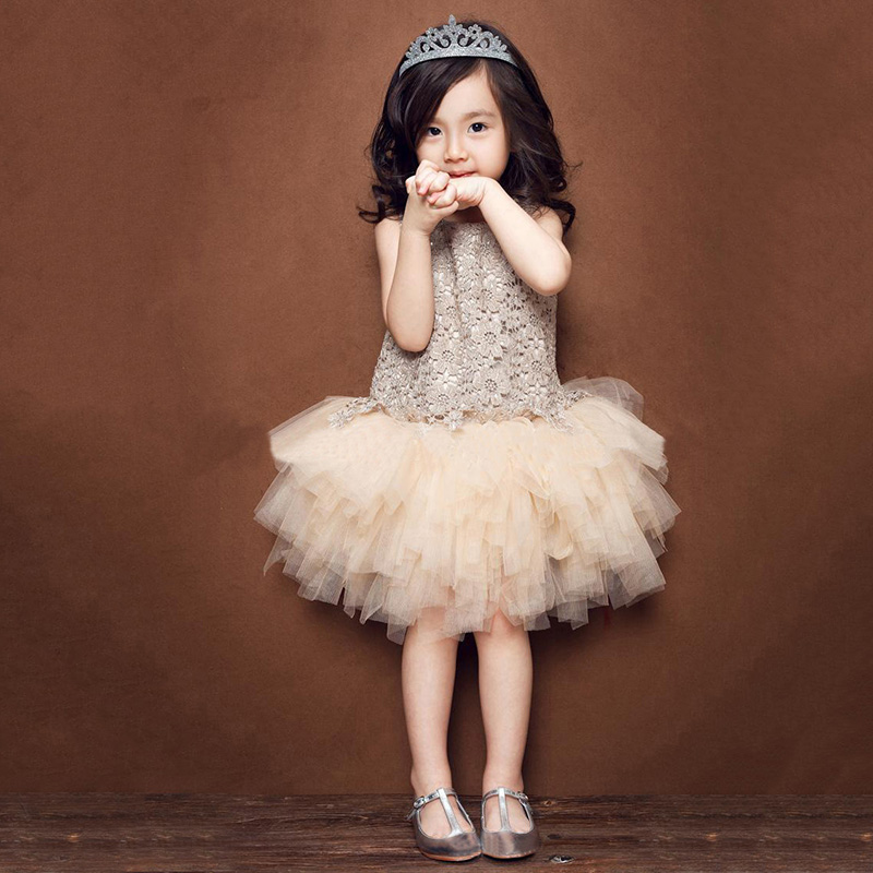 цены на baby girl princess dress summer wedding party sleeveless patchwork lace flower tutu dresses toddler clothes