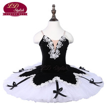 Girls Black Ballet Tutu Apperal Children White Stage Wear Kids Professional Dance Costumes Women Skirt