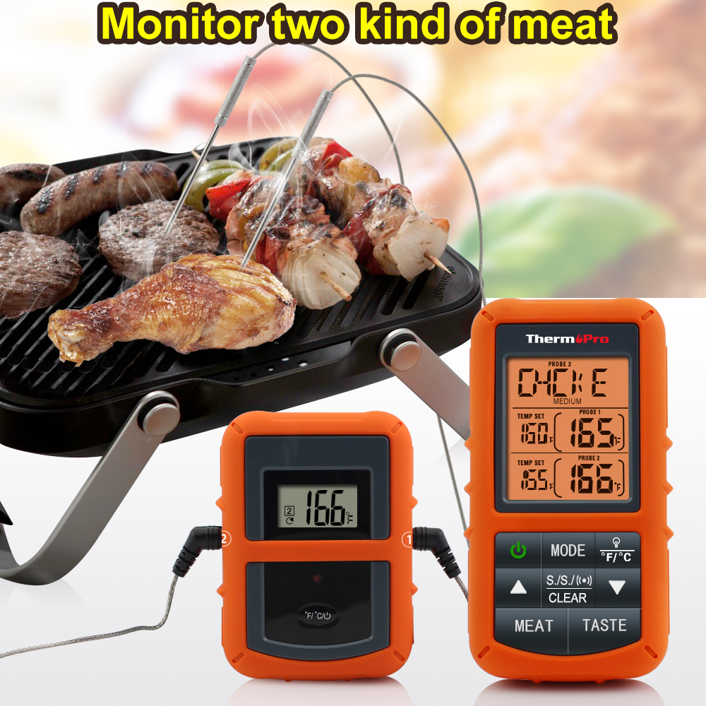 Image 4 - ThermoPro TP 20 Remote Wireless Digital BBQ, Oven Thermometer  Home Use Stainless Steel Probe Large Screen with Timerwireless  bbqwireless thermometer bbqbbq wireless