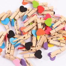 10pcs/lot Small Size 3.5*0.7cm Mini Spring birch colorful Wood Clips for Clothespin Craft Decoration snack Clip Photo Pegs