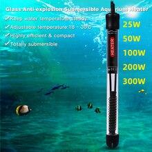 Подогреватель аквариума, автоматический термостат, нагревательный стержень для аквариума, регулировка температуры 25 Вт 50 Вт 100 Вт 200 Вт 300 Вт