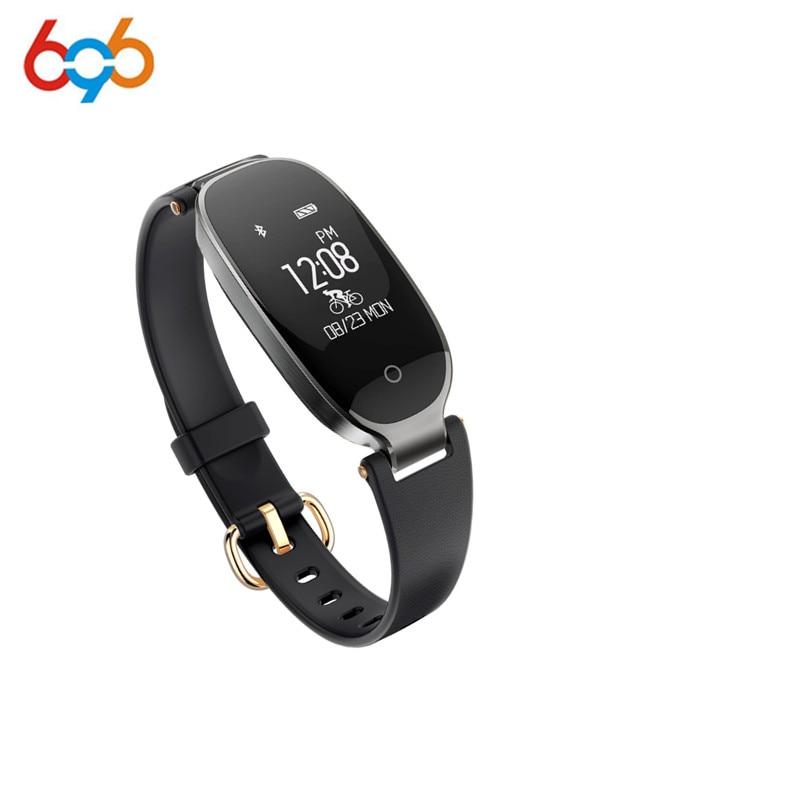 696 S3 elegante reloj de manera de las señoras Bluetooth Monitor de ritmo cardíaco impermeable Smartwatch relogio inteligente para Android IOS