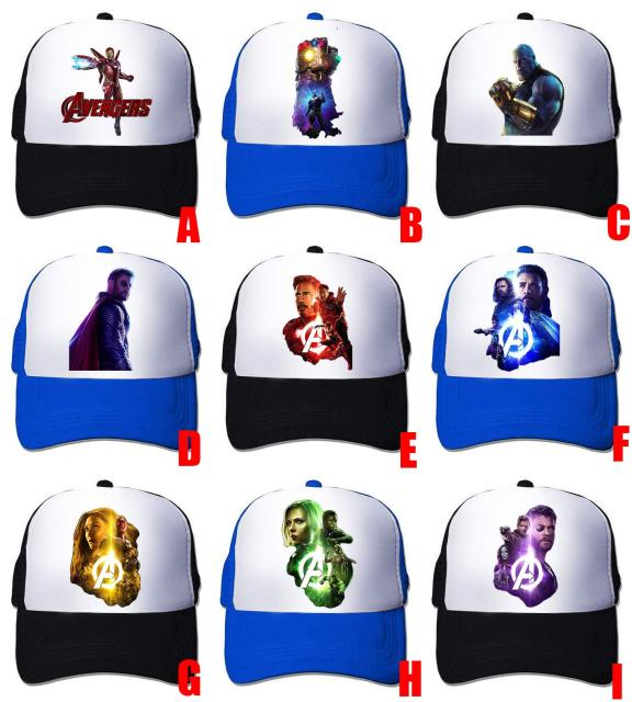 quality design 30735 69103 ... new zealand ohcomics hot marvel avengers infinity war thanos iron man  spider man cotton adjustable hat