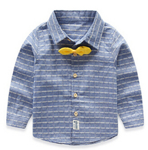 2016 Boys Blouse Shirt Children Outerwear 100% Cotton Kids Clothes Long-sleeve High Quality yellow&blue Fashion Formal Blouse