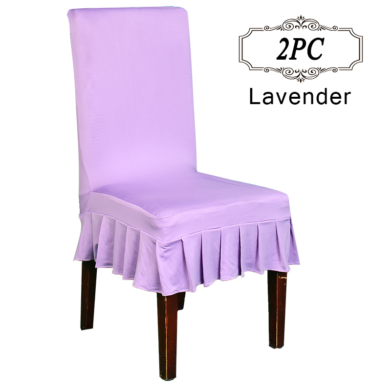 Free Shipping 2PC Rmovable Polyester Stretch Short Home Dining Room Stool Chair Cover Skirt Slipcovers In Event Party Supply From