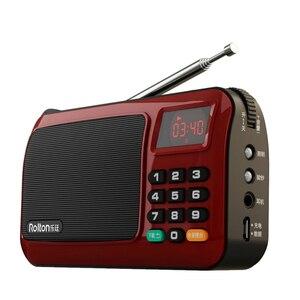 Image 3 - 2019 נייד W405 מיני FM רדיו רמקול מוסיקה נגן TF כרטיס USB למחשב iPod טלפון עם תצוגת LED