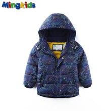 Mingkids haute qualité imperméable coupe-vent polaire lining printemps automne chaud veste d'hiver pour garçons dinosaures en plein air veste puff