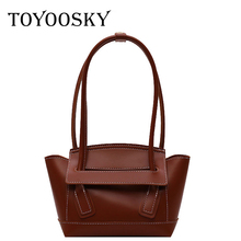 TOYOOSKY Brand Belt Knot PU Leather Bags Female Designer Handbag High Quality Shoulder Luxury Tote Wing For Women 2019