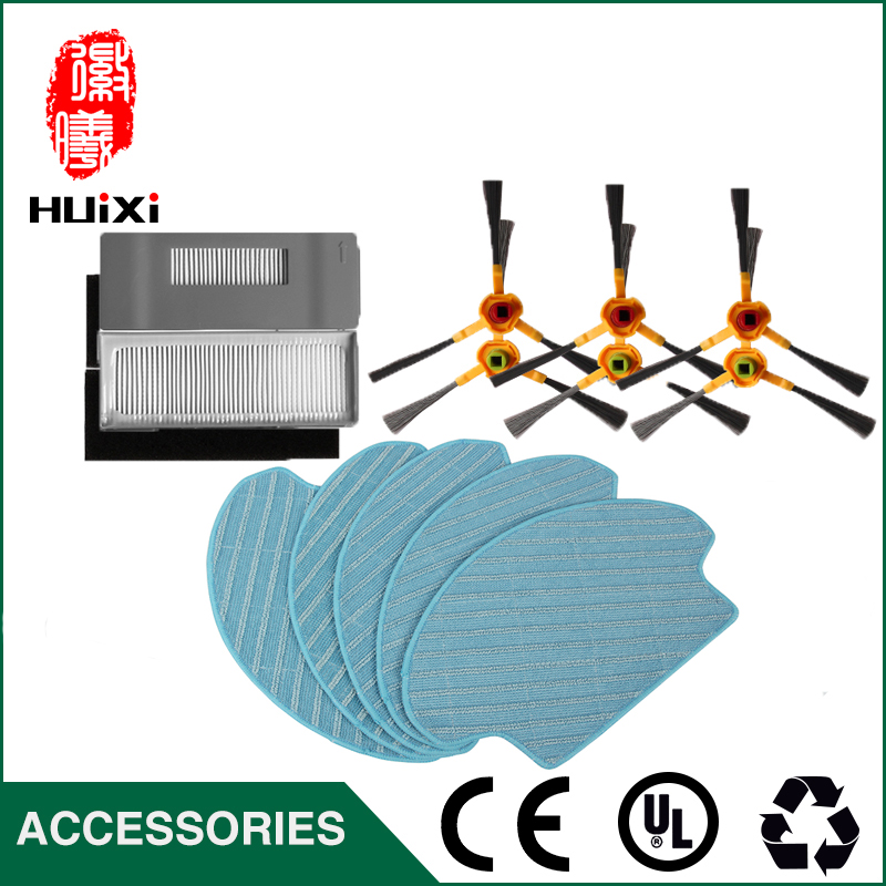 Mopping Cloth + Side Brush + HEPA Filter with High Quality Home Cleaner for DT85 DT83 DM81 Vacuum Cleaner Parts