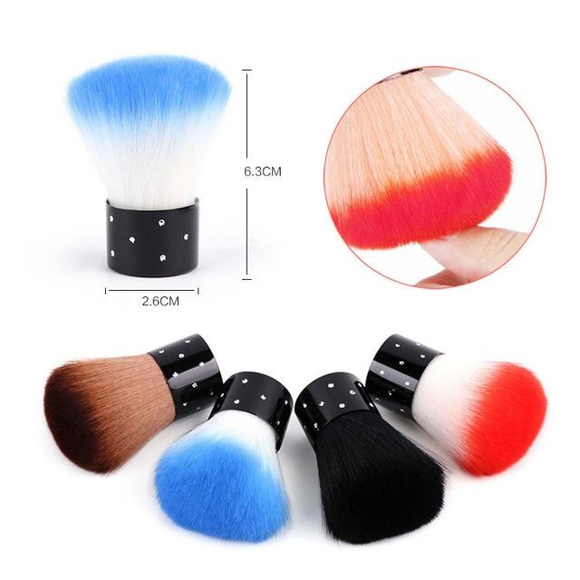 Colorful Rhinestones nail dust Brush For Acrylic & UV Gel Nail Art ...