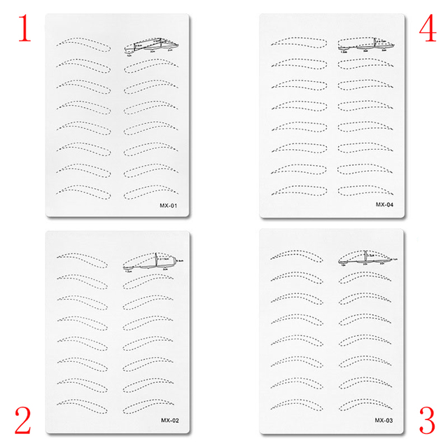 High Quality Microblading Training 3d Permanent Silica Gel Rubber Tattoo Practice Skin For Permanent Makeup Microblading