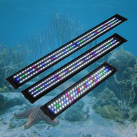 US Plug Waterproof LED Aquarium Lights Fish Tank Light Bar Blue 60/90/120CM Submersible Underwater Clip Lamp Aquatic Decor