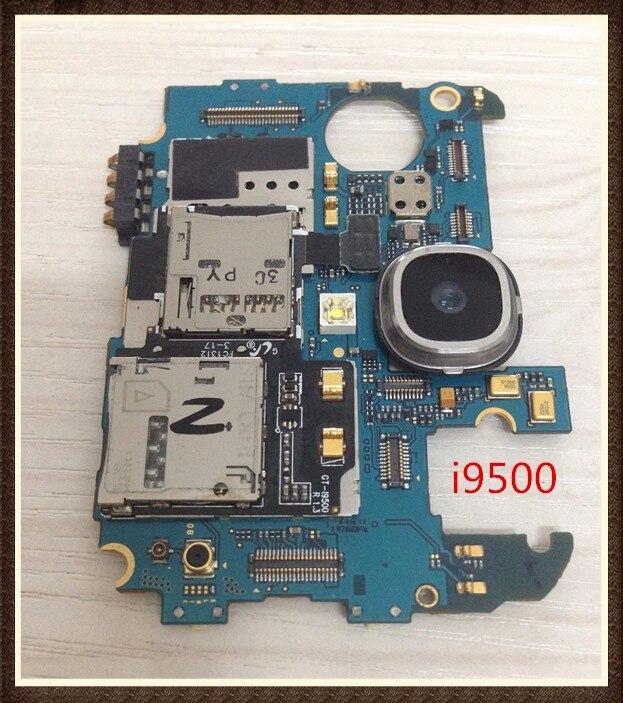 Idioma internacional! ~ desbloqueado lógica de las virutas para Samsung Galaxy S4 i9500 Motherboard limpieza IMEI
