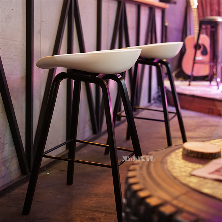 2PCS Minimalist Modern Solid Wood ABS Bar Chair Counter Bar Stool Northern Wind Fashion Creative Popular Furniture Stool 65/75cm excellent quality simple modern stools fashion fabric stool home sofa ottomans solid wood fine workmanship chair furniture